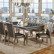 Silver Dining Tables Contemporary Silver Dining Table Cm3219t Slick Furniture