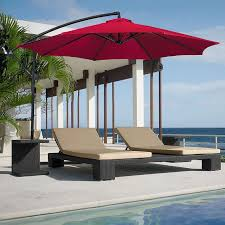 Discount Patio Umbrellas Outdoor 11 Cantilever Patio Umbrella With Base 11 Foot Patio