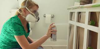 Painting Bathroom Vanity Ideas Painted Bathroom Cabinets The Grey Cabinet Paint Color Is
