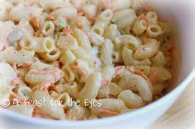 pasta salad with mayo a feast for the eyes hawaiian macaroni salad