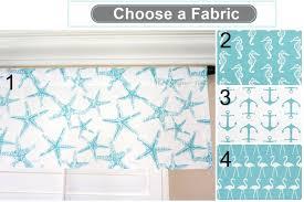 coastal blue white designer window treatments valance panels