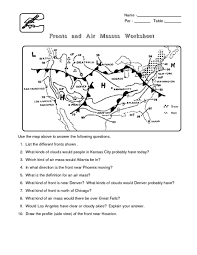 weather worksheets for middle google search science