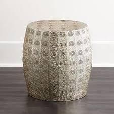 nickel decorative metal silver stool