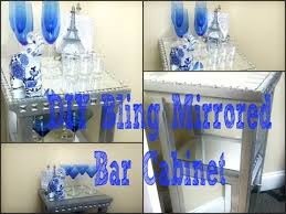 Mirrored Bar Cabinet Diy Bling Mirrored Bar Cabinet Youtube