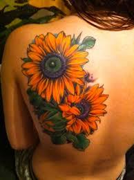 Ladybug And Flower Tattoos - 60 sunflower tattoo ideas nenuno creative