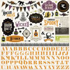 Halloween Stickers Printable by Collections Echo Park Paper Co Hocus Pocus