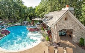 Backyard Cabana Ideas Pool Cabana Ideas Tropical With Wood Deck Hammocks