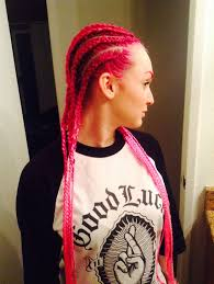 red cornrow braided hair bright pink ombré cornrows cornrows pinterest cornrows