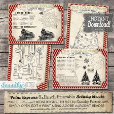 polar express activity sheets red christmas australia party
