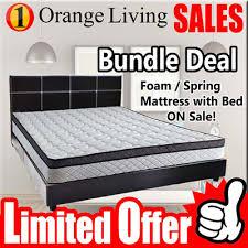qoo10 furniture sales queen mattress queen bedframe set