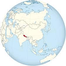 Nepal Map World by File Nepal On The Globe Asia Centered Svg Wikimedia Commons