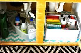 Under Kitchen Sink Organizer by Kitchen Sink Organization First Home Love Life