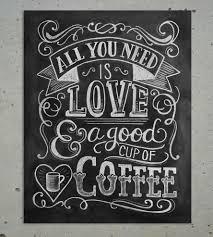 Chalkboard Ideas For Kitchen Love U0026 Coffee Chalkboard Art Print Coffee Chalkboard