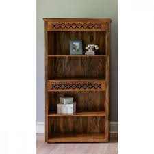 Solid Wood Furnitures Bangalore Wooden Premium Quality Bookcase Camellias Collection C2 By Natureberry
