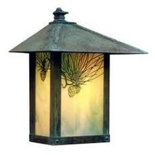 mission style outdoor wall light callaway bronze 14 1 2 high led outdoor wall light porch