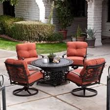 52 patio table set with fire pit outdoor fire pit table and chairs