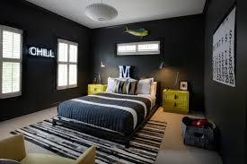 chambre ado garcon deco chambre ado garcon idee gris jaune noir tapis de sol des idées