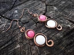 Chandelier Beaded Earrings White Bead 202 Best Wire Wrap Earrings Images On Pinterest Wire Earrings
