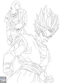 dragon ball z super vegito coloring pages sketch coloring page