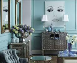 Blue Living Rooms by Glamorous Interiors By Color 58 Interior Decorating Ideas