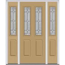 exterior doors with glass mmi door 64 5 in x 81 75 in 9 panel painted fiberglass smooth