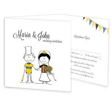 wedding invitations kilkenny gaa tri fold wedding invitation with rsvp kilkenny vs clare