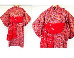 toddler red kimono japanese yukata dress carnival