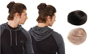 how to blend a lads a hair you can now buy clip on man buns for the ultimate hipster