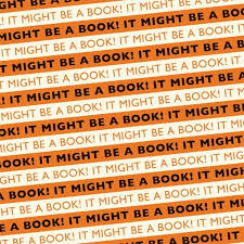 book wrapping paper it might be a book wrapping paper orange black the literary