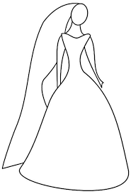 wedding dress coloring coloring sun