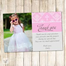 Sample Of Invitation Card For Christening Thank You Card Religion Thank You Cards For Baptism Baptism Thank