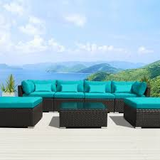 Patio Furniture Sectional Sets - amazon com modenzi 7c u outdoor sectional patio furniture