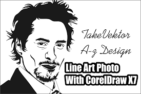 tutorial cara membuat line sticker line art photo with coreldraw x7 video tutorials coreldraw