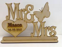 mr and mrs wedding signs personalised mr mrs wedding sign with stand butterfly design