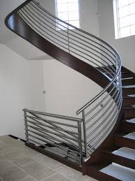 architecture modern round stair design in kerala with stainless