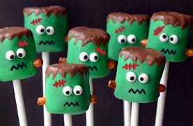 frankenstein marshmallow pops just a taste