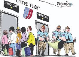 united airlines excess baggage luckovich toon democratic