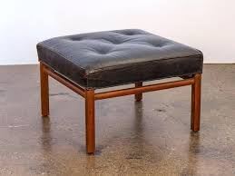 ottoman black leather tufted ottoman coffee table black tufted