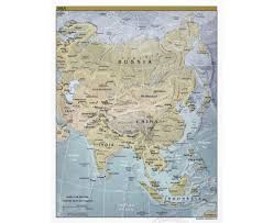 Large World Map Poster by Maps Of Asia And Asian Countries Political Maps Road And