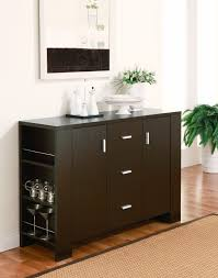 archaic brown color modern kitchen buffet features single door