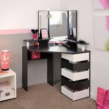 coiffeuse chambre coiffeuse d angle 5 tiroirs noir blanc moderne univers chambre