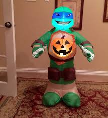 image gemmy prototype halloween ninja turtle with pumpkin