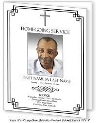 funeral program templates large tabloid classic cross