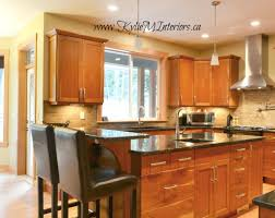 granite countertop ideas cherry cabinets traditional backsplash