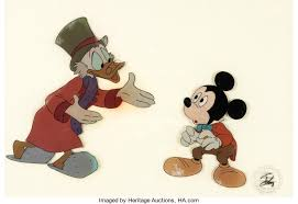 mickey u0027s christmas carol scrooge and mickey mouse as bob cratchit