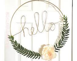 gold hoop wreath etsy
