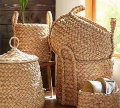 beachcomber round handled baskets pottery barn au