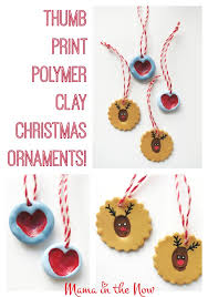thumb print polymer clay ornaments