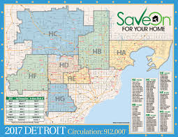 Detroit Zip Codes Map by Maps Saveon