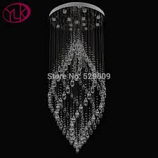 hanging crystals youlaike luxury modern chandelier large hallway staircase